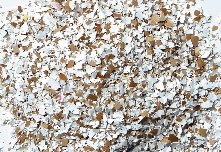 crumbled eggshell